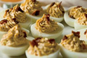 RECIPE:  Smoky Chipotle Deviled Eggs 12 hard-cooked large eggs 1/3 cup reduced fat, light mayonnaise