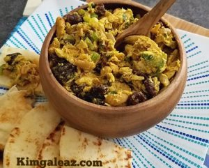 Curried Chicken Salad with Dried Cherries and Cashews