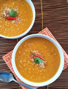 Thai Pumpkin Coconut Lentil Soup